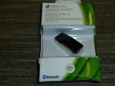 MICROSOFT XBOX 360 OFFICIAL WIRELESS LIVE HEADSET BLUETOOTH 3.0 NEW! Black Chat