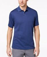New $125 Tasso Elba Men'S Blue Classic Fit Casual Short-Sleeve Polo Shirt Size M