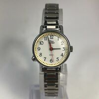 Timex CR 1216 Cell Women's Vintage Indiglo Base Metal Bezel Quartz Analog Watch