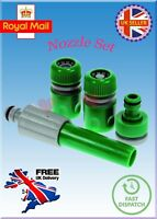 Hose Pipe Fittings Nozzle Connector Set Outdoor Garden Hosepipe UK FREE DELIVERY