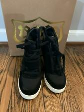 NEW ASH 'COOL' Suede Wedge Sneaker Black Size EUR 36