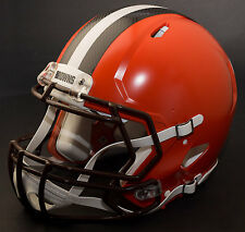 *Custom* Cleveland Browns Nfl Riddell Full Size Speed Football Helmet