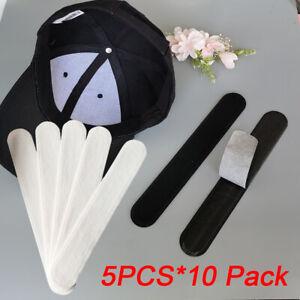 50 PCS Disposable Collar Protector Pads-Adhesive Neck Liner Hat Cap Sweat Pads