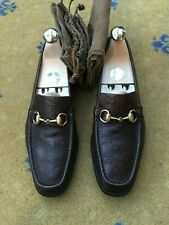 Gucci Women Shoes Brown Leather Horsebit Loafer UK 5.5 US 7.5 38.5 Ladies Driver