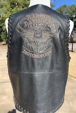 RARE Harley Davidson Men's SOUTHWESTERN Black Leather Vest Large