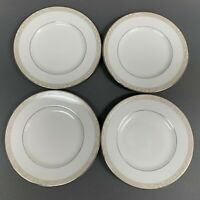 Royal Doulton Cashmere Bread and Butter Plates Fine Bone China White Lot of 4