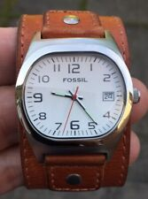LADIES FOSSIL JR-8737  LEATHER STRAP WATCH VERY NICE ORDER FULLY RUNNING