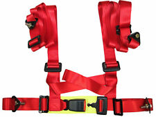 (CLOSEOUT) NRG RED 4 POINTS SEAT BELT HARNESS