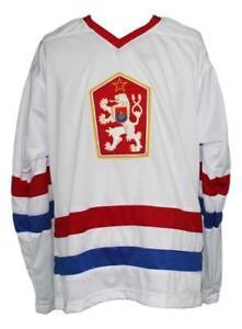 Any Name Number Size Czechoslovakia Custom Hockey Jersey White Hasek