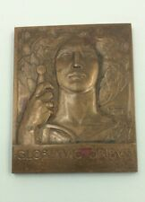Gloria Victoribus French WW1 Medal Of Glory To The Victors Bronze Plaquette
