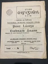 1963 NHL final & All-Ireland Colleges final