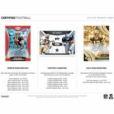SAN FRANCISCO 49ERS 2018 PANINI CERTIFIED FOOTBALL 4 BOX 1/3 CASE BREAK #1