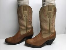 VTG WOMENS UNBRANDED COWBOY BROWN BOOTS SIZE 6 M