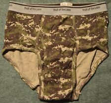 Vtg FTL Fruit of the Loom Rugged Coll CAMO RARE CAMOUFLAGE Men Brief Sz M 34-36