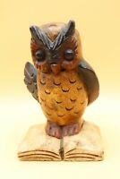 Vintage Primitive Looking Carved Wooden Owl Painted American Folk Art