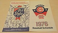 1976   CHICAGO CUBS    Pocket Schedule -  Heileman's Old Style Brewing