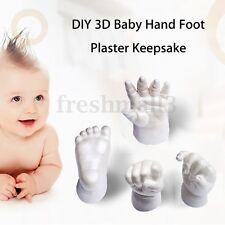 Baby Handprints Footprints Cast Mould 3D Hand Feet Plaster Casting Kit Keepsake
