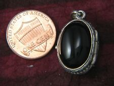 Antique Victorian Oval 2 Pictures Locket Sterling Silver Carnelian by Michael B