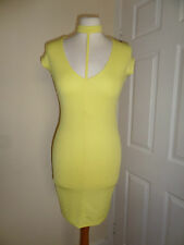 River Island Radiant Yellow Party Bodycon Dress Size UK 6 EU 32 Summer Holiday
