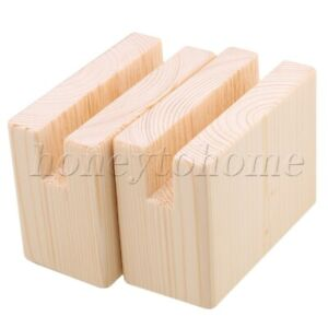 2pcs Bed Lifters Bed Risers Set Wood for Furniture Leg 5cm Lift Height