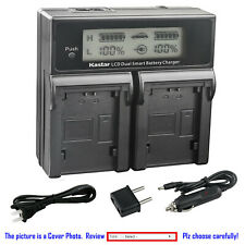 Kastar Battery LCD Dual Fast Charger for NP-FV70 Sony FDR-AX33 FDR-AX53 NEX-VG10
