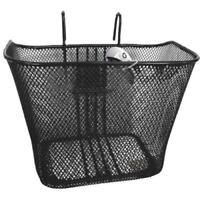 New Front Mesh Cycling Bike Basket Shopper Town Tourist Steel Basket Black