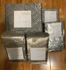 Hudson Park Woven Daimond King Duvet Cover+2Standard + 2King Quilted Shams