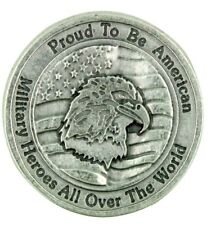 """""""Proud to Be An American"""" Military Protection Pocket with Heroes Prayer"""