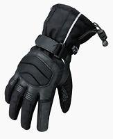 Leder Motorradhandschuhe Motorbike Sports Gloves,Wasserdicht Sporthanschuhe DE