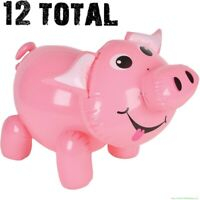 (12) Inflatable Pig Blow Up ~ Piggie Piggy Pool Party Decor Party Float Inflate