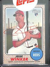 2017 Topps Heritage Real One Rookie Red Autograph #ROA-LW Jesse Winker No 44 of