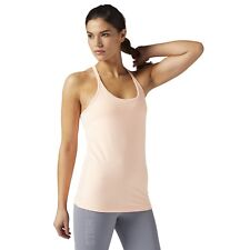 Reebok Womens Les Mills Tank Top Built In Sports Bra Gym Strappy Training Vest
