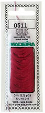 Madeira 100% PURE SILK Color 0511 RED, 4-Strand Hand Embroidery Thread 5.5 Yards