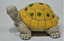 TORTUE Turtle en céramique Leps Perou longueur 10 cm