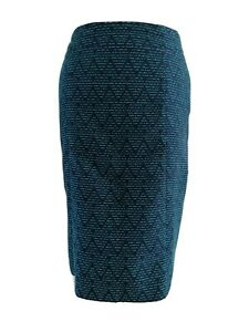 White Stuff Navy And Teal Embroidered Brooklyn Pencil Skirt With Pockets Uk12