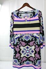 FOREVER 21 Polyester Blend Floral Above Knee Shift Dress Size - Extra Large