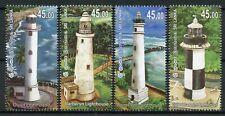 Sri Lanka 2018 MNH Lighthouses Barberyn Lighthouse 4v Set Architecture Stamps