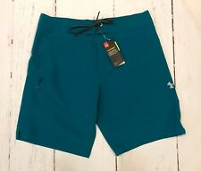 New Mens Under Armour UA Stretch Storm Board Shorts Surf Trunks Teal Sz 36 $49