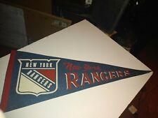 Vintage NHL New York Rangers Souvenir Felt Pennant Hockey League Sports NY Fun