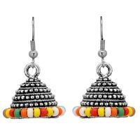 Jewelfy Indian Jhumka Earrings Bollywood Trending Pearls Jhumki Fashion Jewelry
