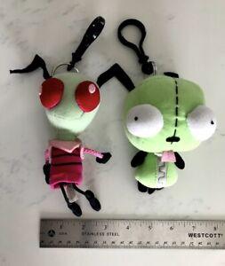 Invader Zim & Gir plushies stuffed figures