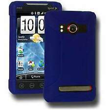 NEW AMZER BLUE PREMIUM SILICONE SOFT SKIN JELLY CASE COVER FOR HTC EVO 4G