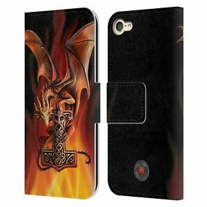 OFFICIAL ANNE STOKES GUARDIAN DRAGONS LEATHER BOOK CASE FOR APPLE iPOD TOUCH MP3