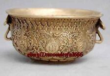 excellent Folk Favorites Bronze Dragon Statues Treasure Bowl 12.5cm