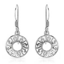 .925 Silver, 6.5 grams, length 27mm New Circle Earrings crafted in Sterling