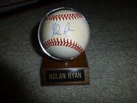 Nolan Ryan Rangers SIGNED autographed BASEBALL SCOREBOARD. PSA Guarantee!