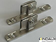 GENUINE INDAUX Kitchen Drawer Front Fixing Brackets x 2 (1 Pair)