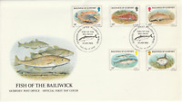 GUERNSEY 22 JANUARY 1985 FISH FIRST DAY COVER GUERNSEY SHS