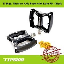 Tipsum Ti-Max Titanium Axle Pedal For Mtb Road Bicycle with Extra Pin - Black