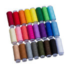 24 Assorted Colors Polyester Sewing Thread-Pack of 24 UK AD